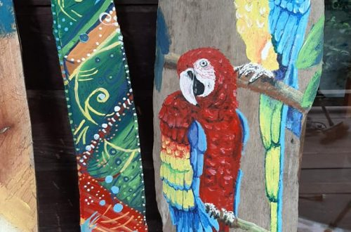 Driftwood paintings - Art projects for 2020 Colina Studio